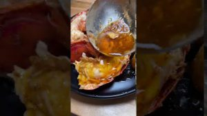Cooking lobster with cajun butter sauce