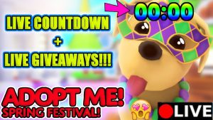 🌷Adopt Me Live SPRING FESTIVAL Update Countdown +LIVE legendary pets Giveaways!!!!