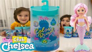 BARBİE COLOR REVEAL Deniz kızı Chelsea ve Barbie color reveal Pets