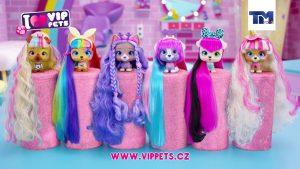 VIP Pets kolekce 12 pejsků s extra dlouhými vlasy