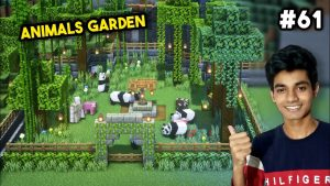 I MADE A BEAUTIFUL GARDEN FOR MY PETS | MINECRAFT GAMEPLAY #61 | VEDFLICK